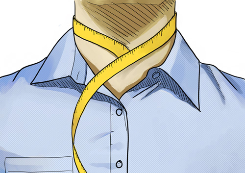 Hemdengröße: Halsweite / Kragenweite messen