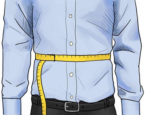 Hemdengröße: Taillenumfang messen