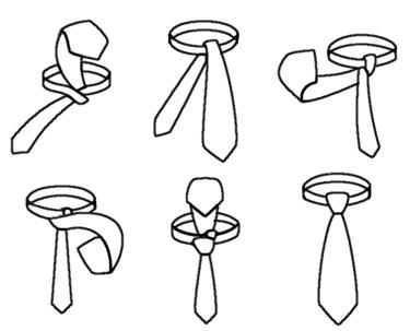 Krawattenknoten Einfacher Windsor